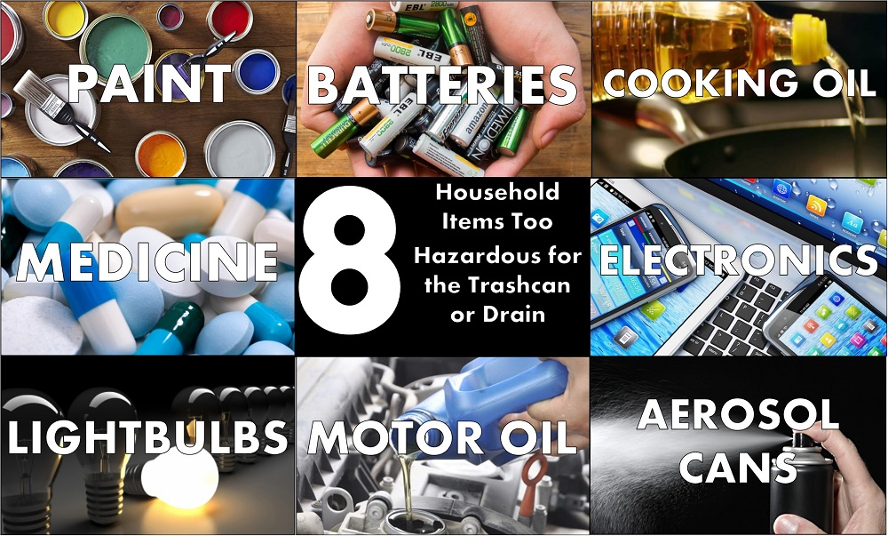 8 Household Items Too Hazardous For The Trashcan Or Drain