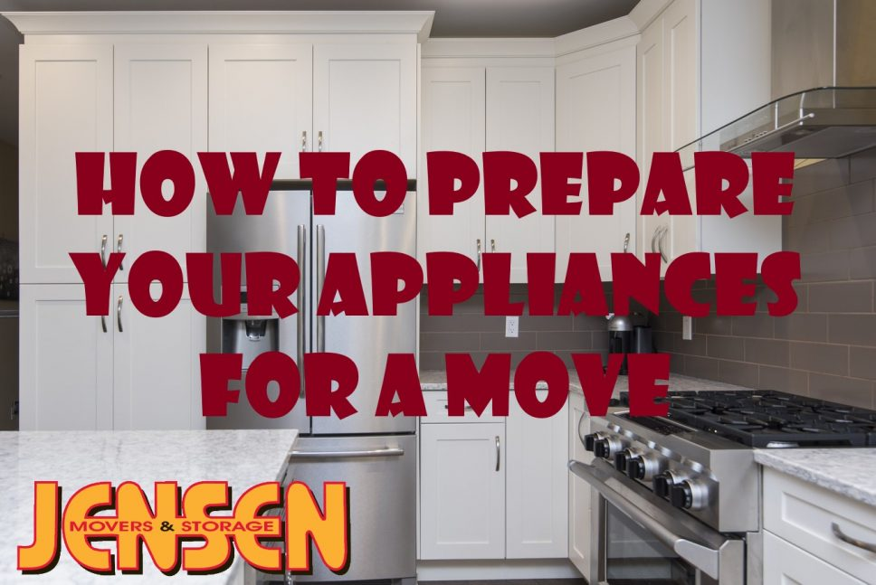 How to Prepare Large Appliances For A Move